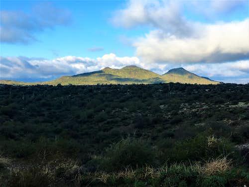 The Adams Peaks from near the trailhead