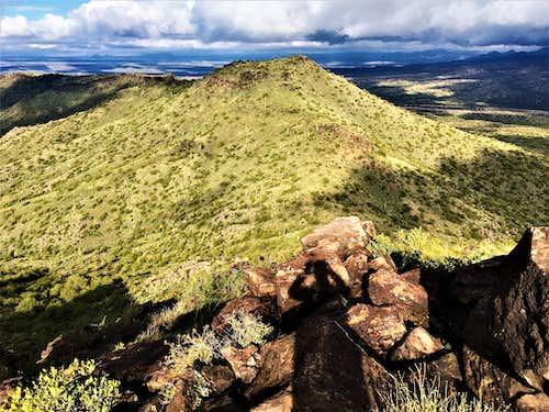 View from Adams Mesa to Adams Benchmark