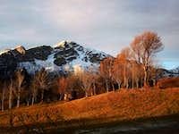 Monte Stivo East side in a winter sundown
