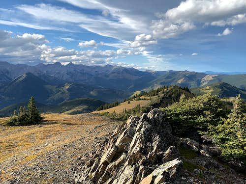 Summit of the Bull Creek Hills