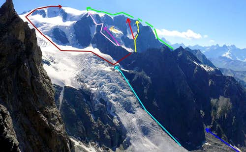 ALL ROUTES on Swiss side to MONT VELAN or V'LAN  (Valsorey/Entremont)  /2
