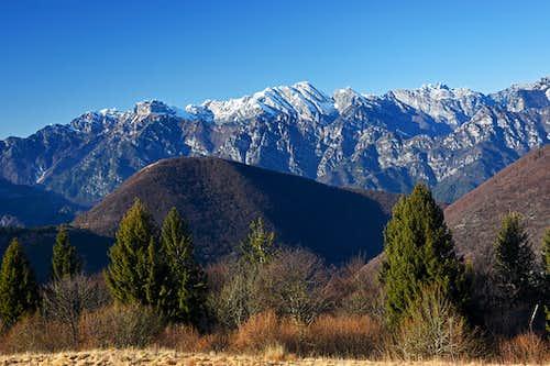 Monte Caserine Alte from Monte Valinis