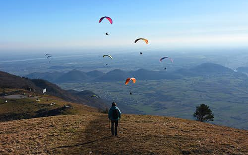 Monte Valinis paragliding take-off point
