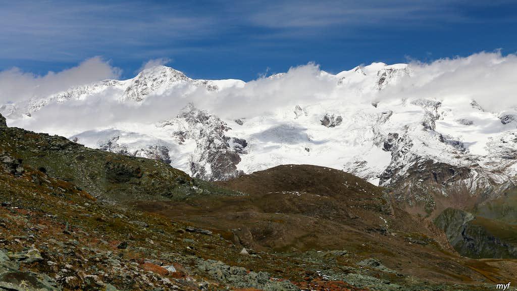 Lyskamm from Testa Grigia North Pass