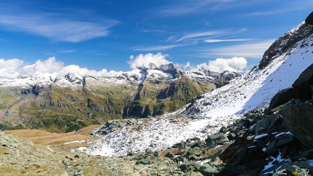 East View from Testa Grigia North Pass