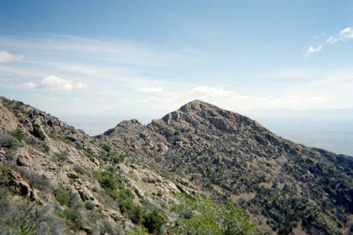 A view of Ladron Peak.