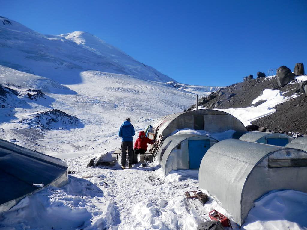 camp at 3800