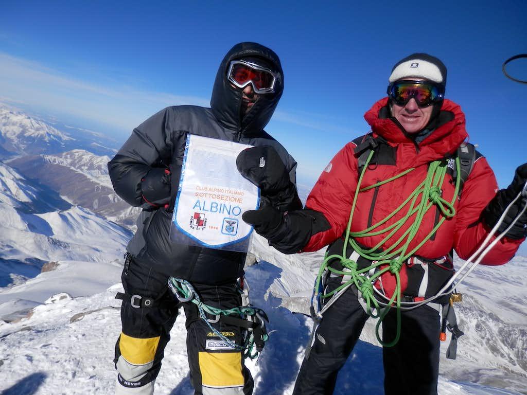 summit with my friend Denis