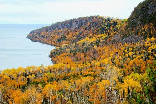 Lake Superior Shore View Looking South