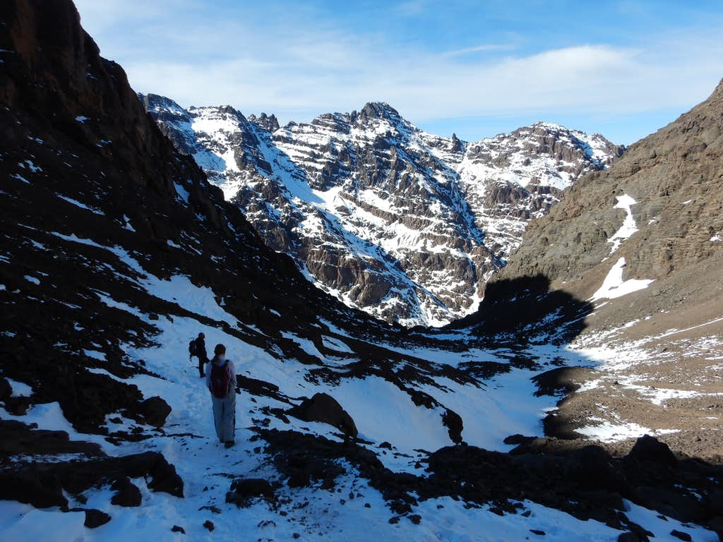 Descending from the Toubkal Hut