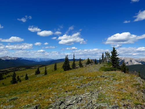 The summit of Powderface Ridge