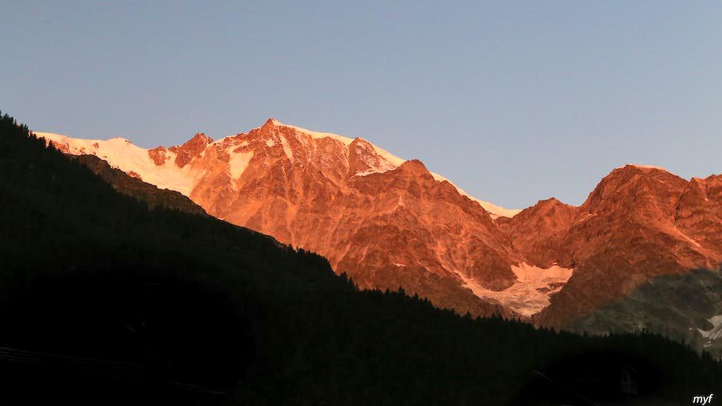 Monte Rosa South Wall at Dawn