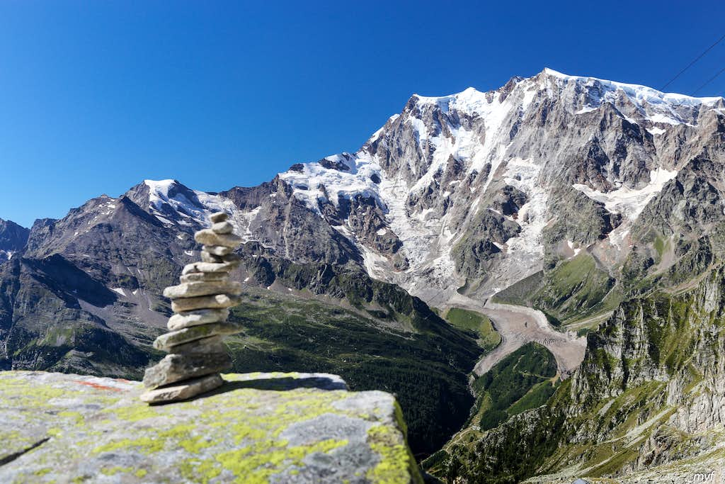 Monte Rosa from Monte Moro Pass