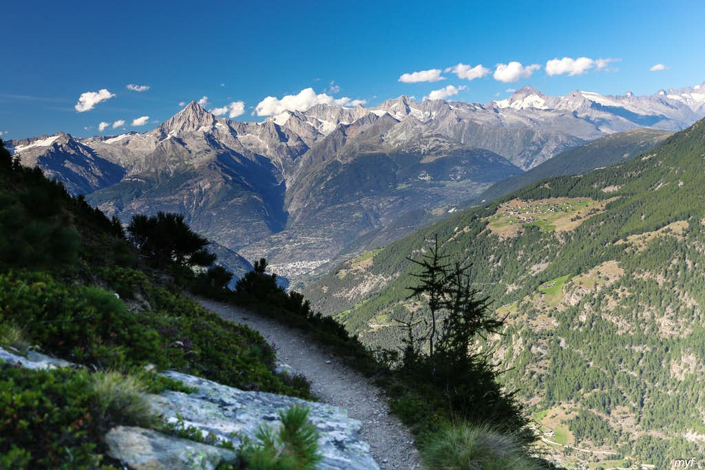 Panorama of Bernese Alps from South