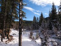 Along Prairie Creek trail on the way to Prairie Mountain