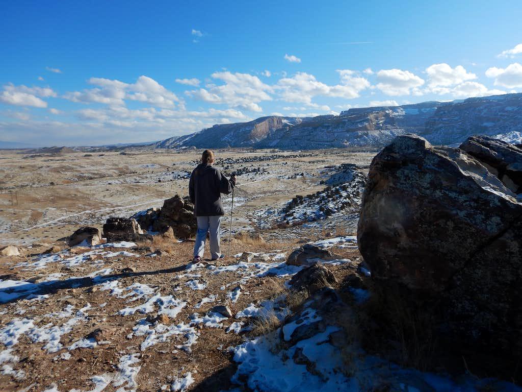 Kimberly on the Dinosaur Hill Trail