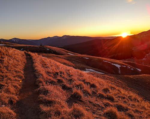 Sunset- Cross Mountain Trail