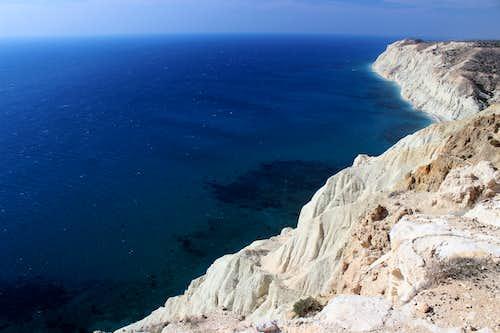 Blue Mediterranean views. Cape Aspro