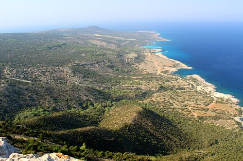 Blue Mediterranean views. Akamas peninsula.