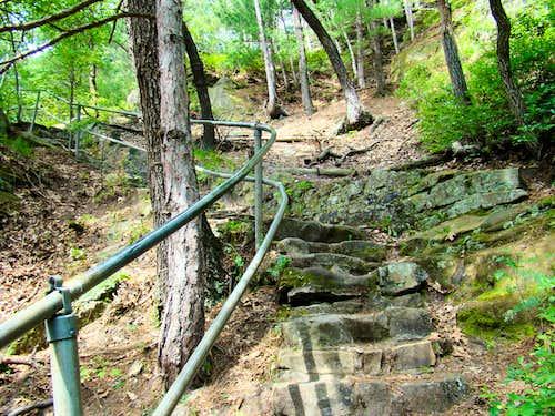 Mill Bluff Trail Upper Stairway