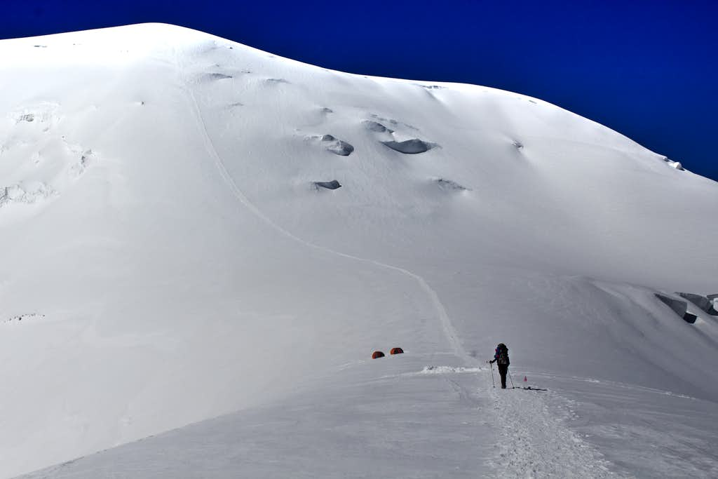 Straight forward route up to Camp 3