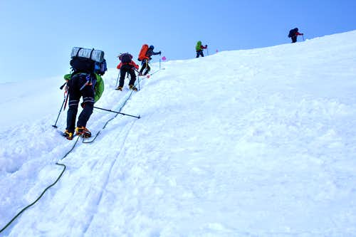 Steep section in the icefall