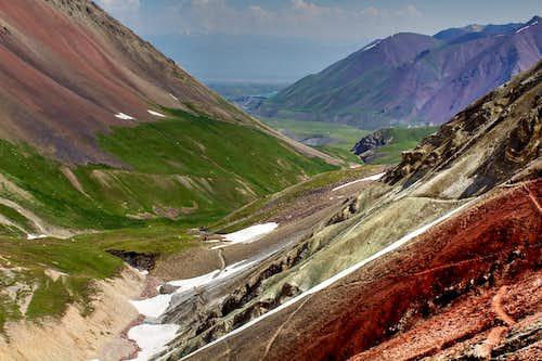 Colourful scenery