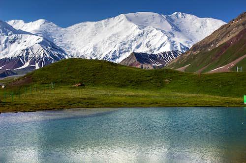 Alpine lake at Base camp