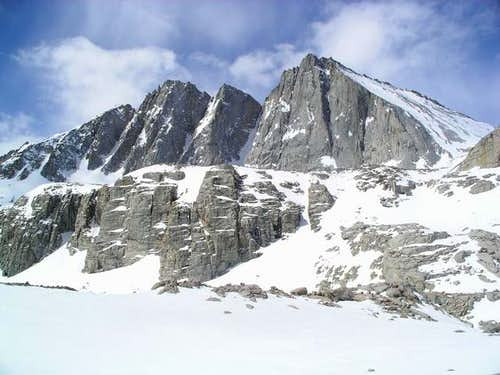 Tyndall from snow-covered...