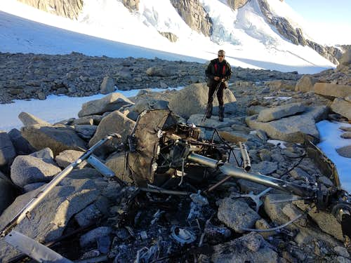Andes Patagonia, helicopter crash