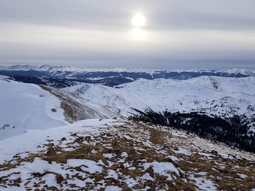 Looking south from Mt Sniktau