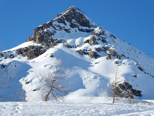 La Torretta (2538m)  from the surroundings of Lac Muffet chalet