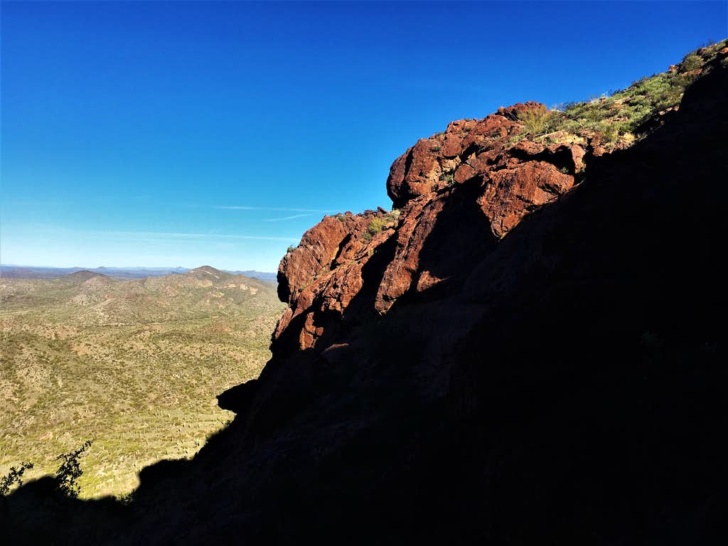 View from near the top of the gully