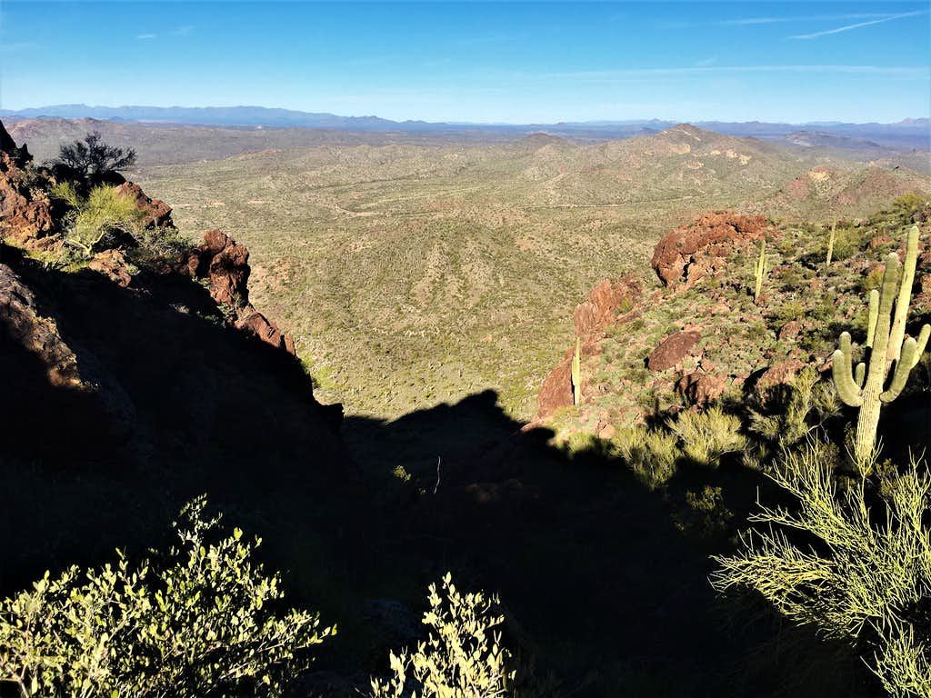 View from the top of the gully