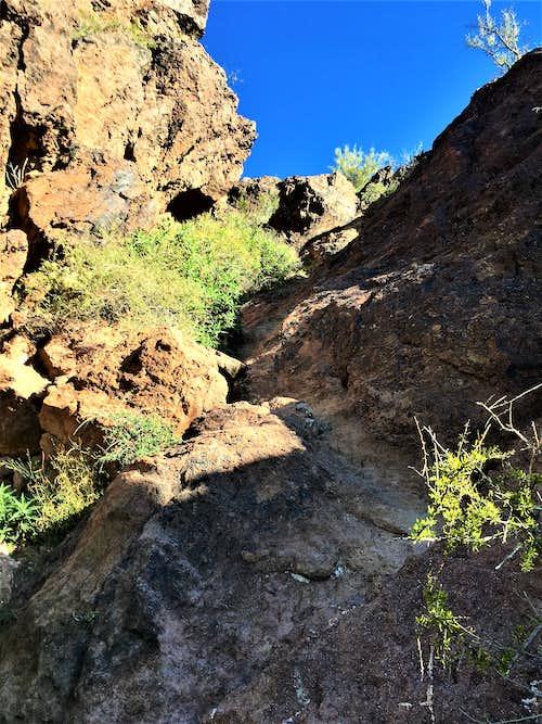 Last climbing section