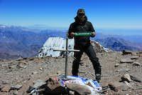 Yooper on top (Aconcagua)