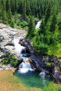 Best swimming hole in Glacier N.P.? (below Old Man Lake)
