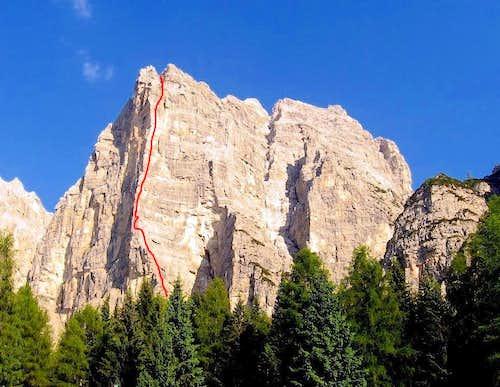 Beta of Spigolo Strobel, Rocchetta Alta di Bosconero
