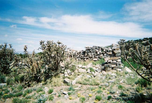 The stone cabin near the...