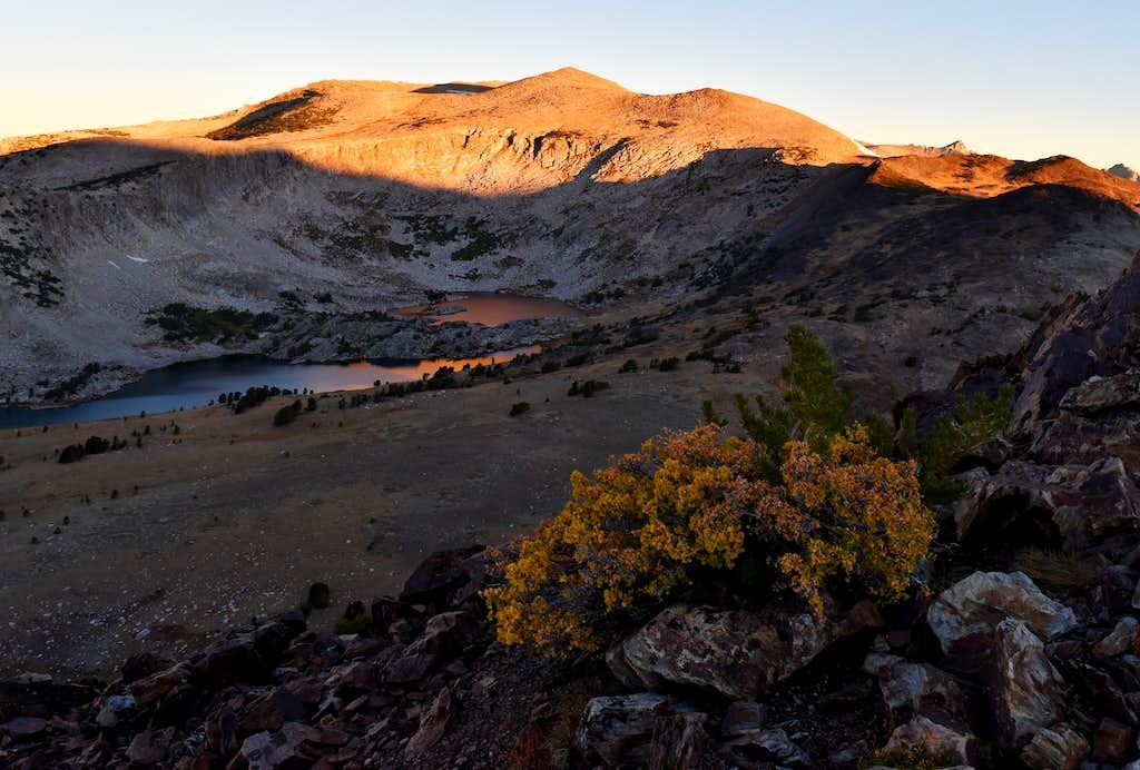 Granite Lakes from the summit of Gaylor Peak