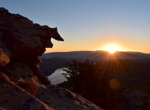Sunrise over Donnor Lake