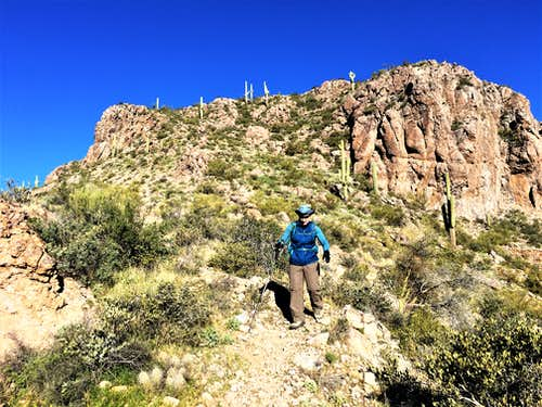 Descending off of Dome Mountain