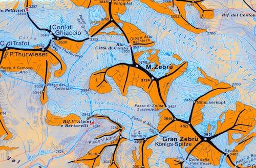 Monte Zebrù map