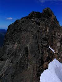 The summit block as viewed...