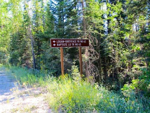 Baptiste road sign