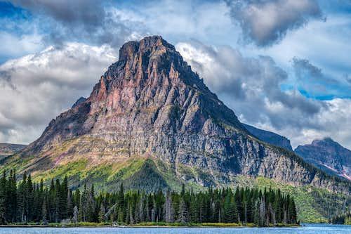 Sinopah Mountain (Two Medicine Lake, Paradise Point, 9-31-19)