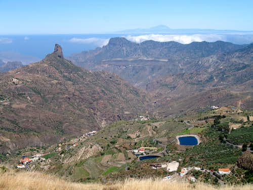 Roque Nublo and Mt Teide