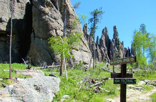 Cathedral Spires Trail Junction