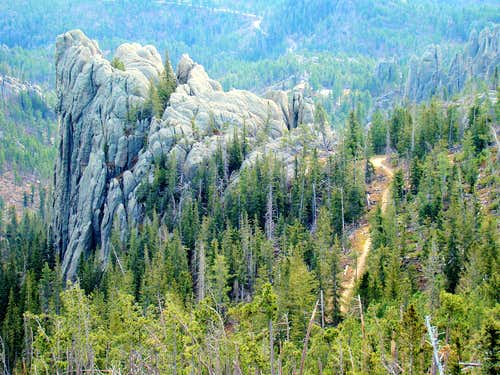 View Down From Little Devils Tower