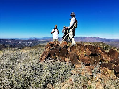On the summit of Quien Sabe Peak
